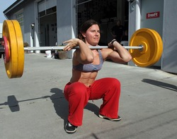Eva T from Crossfit HQ front squat