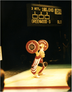 Giles Greenwood weightlifting