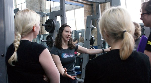 Learning the key concepts in weight training on the Ladies Who Lift course